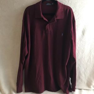 Polo Ralph Lauren Long Sleeves Red 2XL